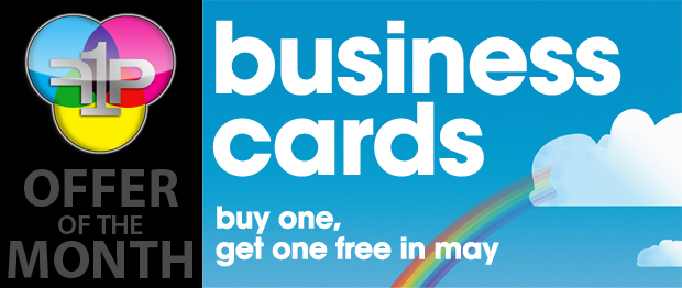 May Offer: Buy One, Get One FREE Business Cards!