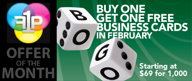 February Offer: Buy One, Get One Business Cards!